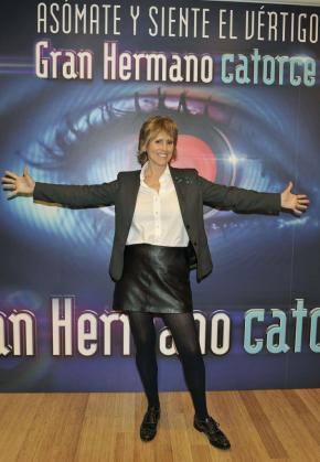 """Fotografía facilitada por Telecinco de la presentadora y periodista Mercedes Milá durante la presentación de la 14 edición de """"Gran Hermano""""."""