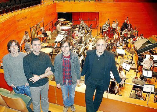 Javier Martí, Felipe Aguirre, Joan Sureda y Josep Prohens, ayer.