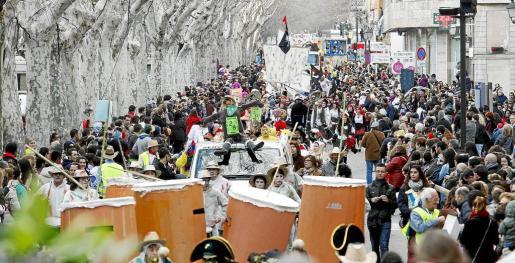 Un momento del desfile de Sa Rua en Palma.