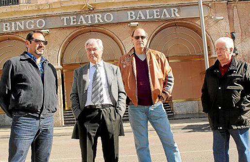Julio Marqués, Eusebio Cano, Diego Gómez y Rafael López, ayer en Palma.