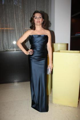 La actriz Cati Solivellas, en su hotel, antes de salir hacia la gala.