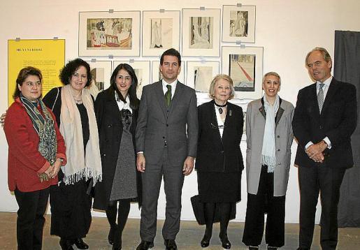 Elvira Cámara, Pilar Ribal, Rachel Alcántara, Fernando Gilet, Juddith Saenz de Tejada, Inmaculada Corcho y el director general de Caser, Ignacio Eyries.