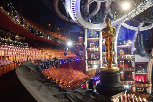 Fotografía de archivo que muestra los ensayos de la 84 edición de los premios Óscar del año pasado.