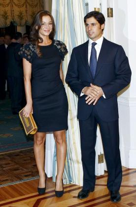 Francisco Rivera con su última novia Cecilia Gómez.