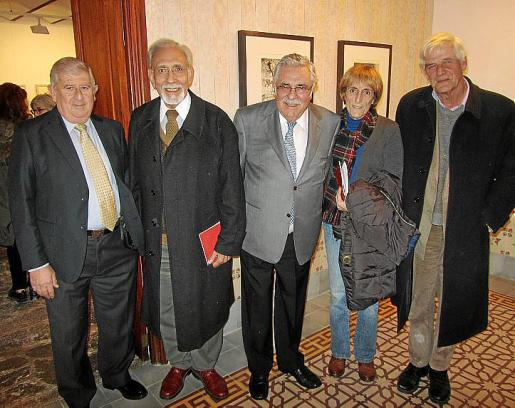 Joan Albertí, Joan Nadal, Pere A. Serra, Trini Morell y Geoff MacEwan.