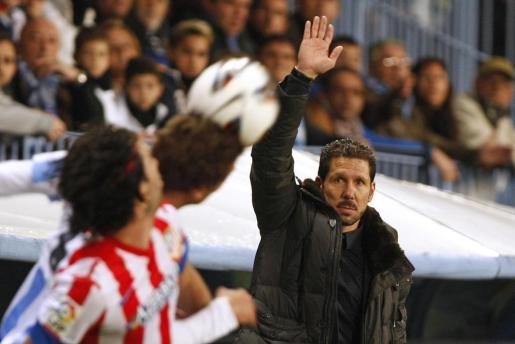 'El Cholo' Simeone, durante el último partido disputado por su equipo, el Atlético de Madrid.