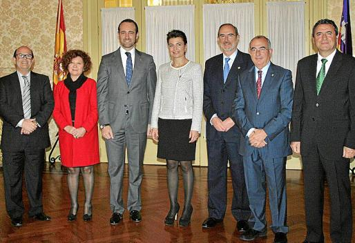 Joan Huguet, Aina Rado, José Ramón Bauzá, Margalida Duran, Antonio Diéguez, Cristófol Soler y Pere Rotger.