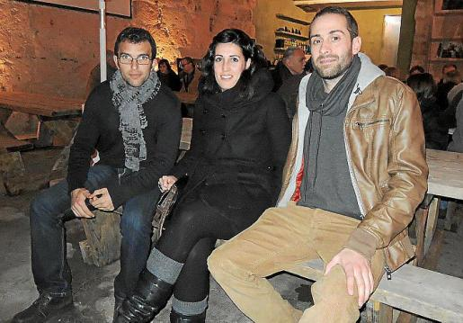 Josep Coll, Elisabeth Cantallops y Biel Amengual.