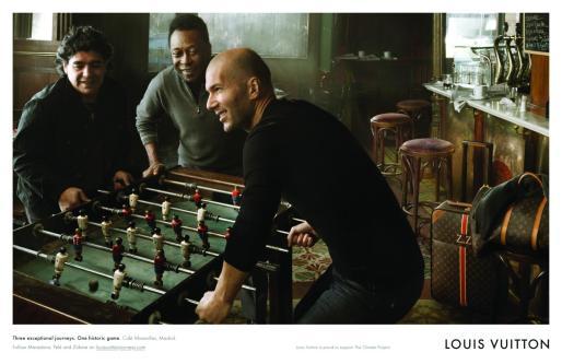 Los tres ex futbolistas son la nueva imagen de Louis Vuitton.