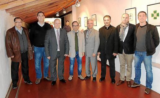 Los responsables de las cofradías de Inca: Gabino Fornés, Toni Reus, José Fernández, Magín Janer, Antelm Ferretjans, Lluís Escat, Miquel Àngel Sastre y Pere Payeras.