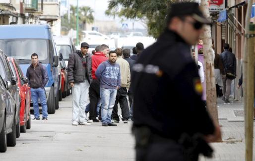 La Policía ha llevado a cabo una redada en el palmesano barrio de La Soledat.