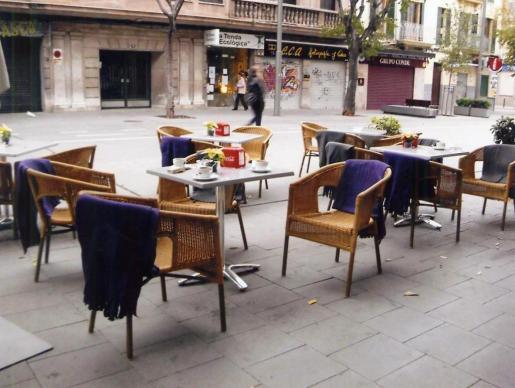 Una cafetería de la calle Blanquerna.