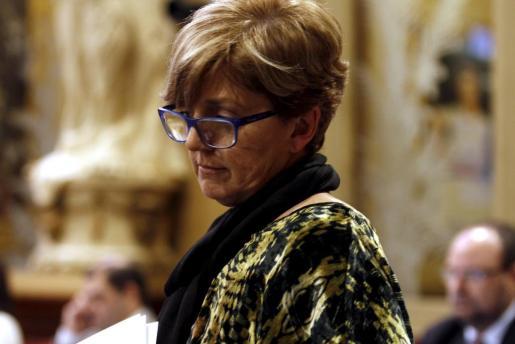 Maria Lluïsa Mascaró, ayer en el pleno del Parlament.