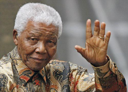 Fotografía de archivo de Nelson Mandela.