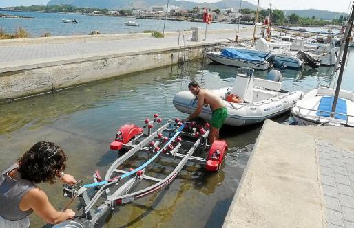 Es Barcarés, uno de los pequeños puertos de titularidad autonómica. Sólo dispone de 33 amarres.