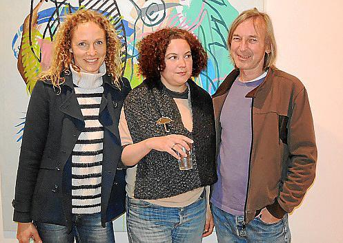 Hildegunn Almas, Mariana Sarraute y Howard Evans.