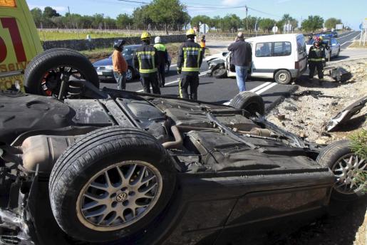 El accidente se ha producido en la carretera vieja de Sineu, a la altura de la rotonda de Sencelles.