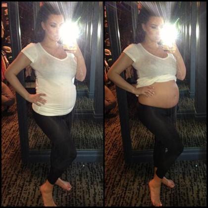 La modelo Kim Kardashian mostró esta foto en su cuenta de Twitter (@KimKardashian).