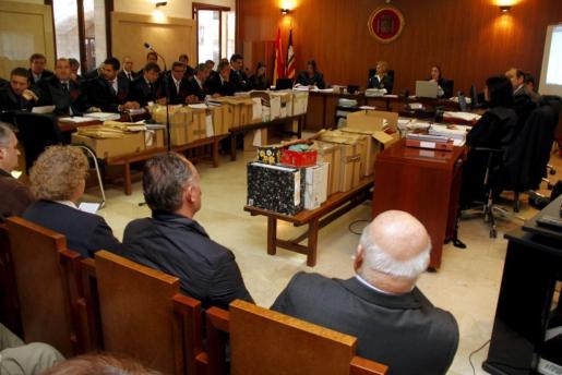 Imagen de la sala donde se desarrolla el juicio por el caso Scala.