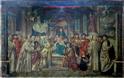 Imagen de la copia del cuadro, que encargó Jovellanos, cedida por el Museo Casa Natal Jovellanos de Gijón, su nuevo propietario.