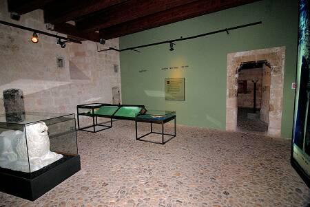 Interior del museo, ubicado en el Castell de Bellver.