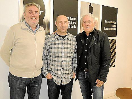 Biel Amer, Tomeu Simonet y Jaume Llinás.