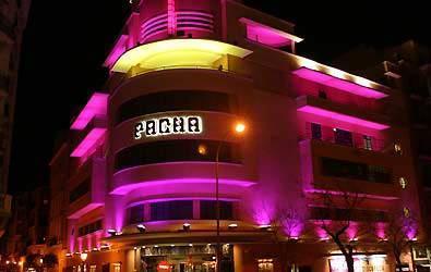 Fachada de la discoteca Pachá en Madrid.