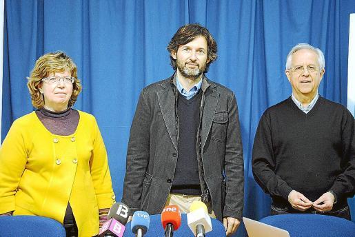 Margalida Maria Riutort, Joan Ramis Pujol y Llorenç Riera.