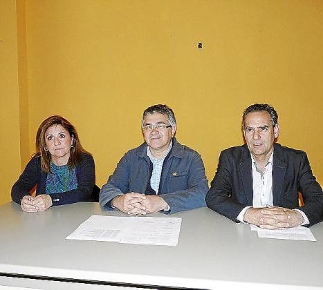 Barceló, Rodríguez y Ramis ayer por la tarde.