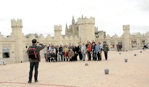 Una treintena de personas siguieron la visita organizada por ARCA, que llegó a la terraza sa Llonja. Fotos: JOAN TORRES
