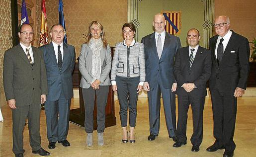 Simón Gornés, Adolfo Orozco, Teresa Palmer, Margalida Durán, Francisco Manuel Kovacs, Antonio Gómez y Pedro Pablo Marrero.
