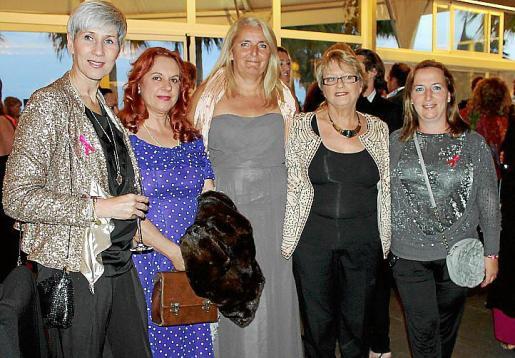 Linda Breevaart, Orquídea García, Helen Pitt, Krista Hyer y María Algar.