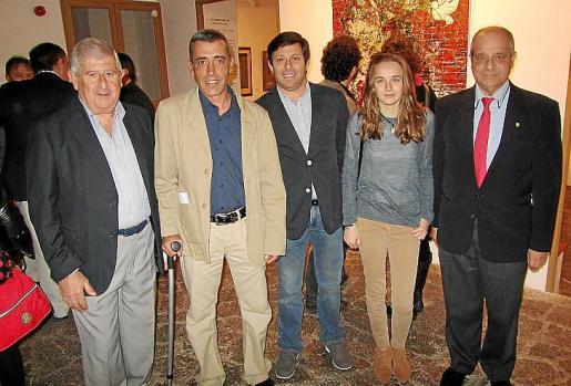Joan Albertí, Pere Colom, Oscar Mayol, Maria de Lluc Mayol y Bartolomé Oliver.