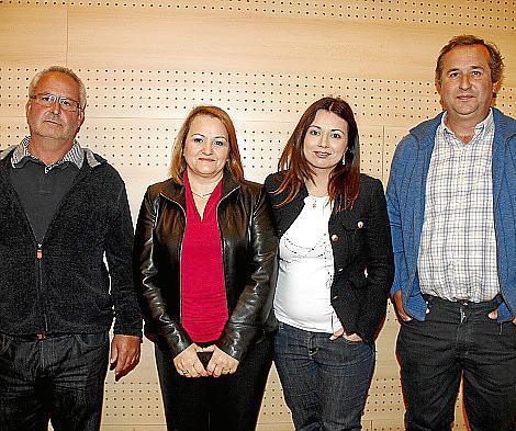 Onofre Fullana, María Francisca Mulet, Ana Bofarull y Tomeu Rigo.