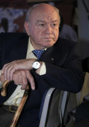 El presidente de honor del Real Madrid, Alfredo di Stefano.