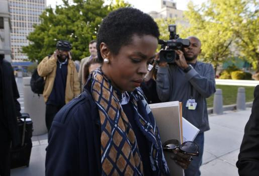 La cantante Lauryn Hill, a su llegada a los juzgados.