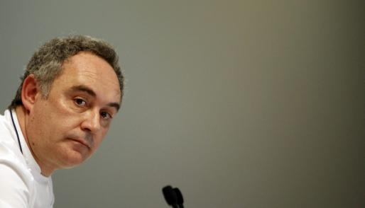 Ferran Adrià, prestigioso cocinero de El Bulli.