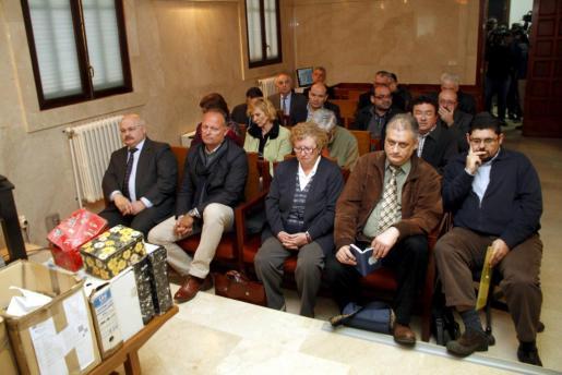 Los principales imputados en el caso Scala durante el jucio.