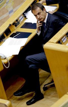 El presidente del Gobierno, durante la sesión de control al Ejecutivo de ayer, centrada en la economía.