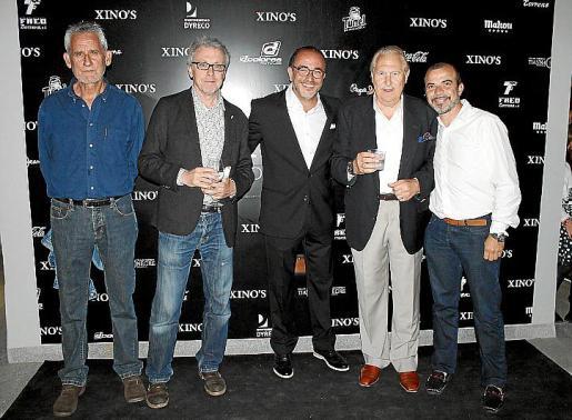 Pere Font, Lluís March, Pedro Mesquida, Pep Sans y Rafel Font Feliu.