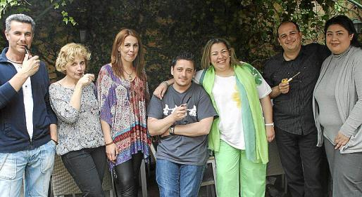 Antonio Navarro, Amparo Morales, Tamara Murcia, Sergio Busquets, Isabel Quintana, Juan José Marí y Carmen Vargas.