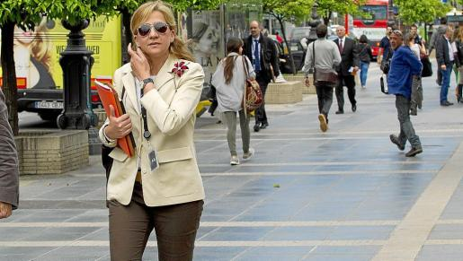 La infanta Cristina, en una imagen captada en Barcelona.