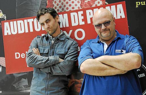 Rodrigo Ponce de León y Manolo Medina, ayer, en el Auditòrium.
