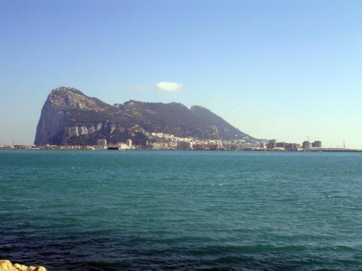 Vista general del peñón de Gibraltar.