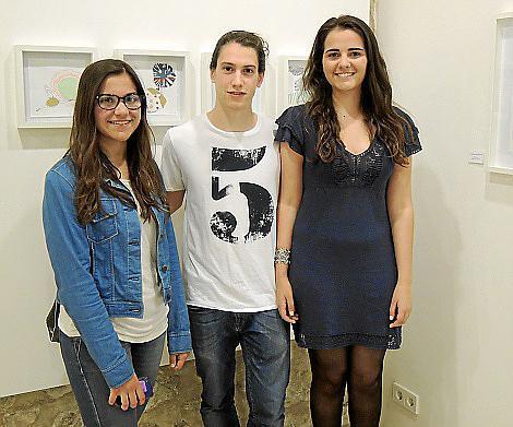 Aina Llompart, Cristòfol Llompart y Joana Aina Pérez.