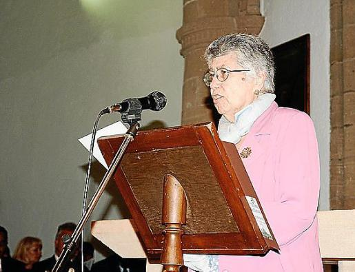 Margalida Tous, durante la lectura del pregón.