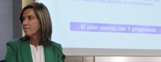 La ministra de Sanidad, Ana Mato, durante una rueda de prensa ofrecida tras la reunión del Consejo de Ministros en la Moncloa.