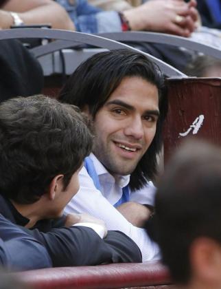El delantero colombiano del Atlético de Madrid Radamel Falcao, en la Feria de San Isidro.