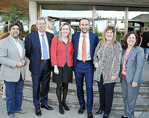 Joan Domínguez, Josep Aloy, Luisa Hernández, Luis Mateo, Joana María Camps y Laura Oliver.