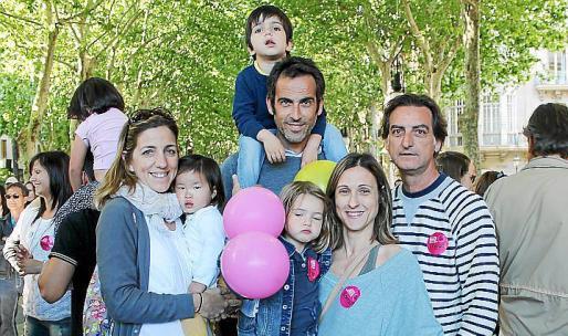 Olvido Terrassa, Olvido Mulet, Lluc y Manolo Mulet, Martina Alorda, Ester Callizo y Pep Alorda.